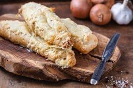 Blätterteig – Schinken – Käse – Stangen