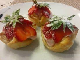 Blätterteig – Erdbeeren