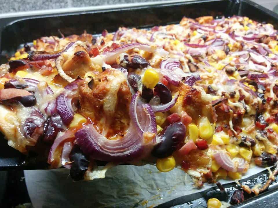 Rezept Chicken – BBQ – Pizza