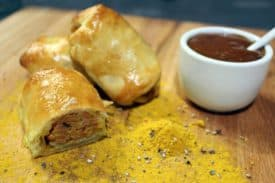 Blogbeitrag Currywurst Rollups