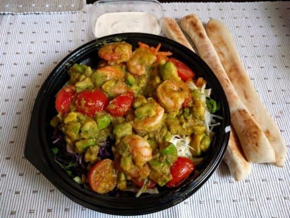 Pizzeria Mido Garnelen - Salat