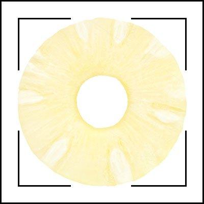 Ananas - Blätterteig - Sterne - Schnittbild
