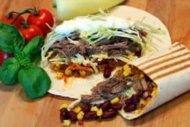 Tex Mex Pulled Beef Wrap