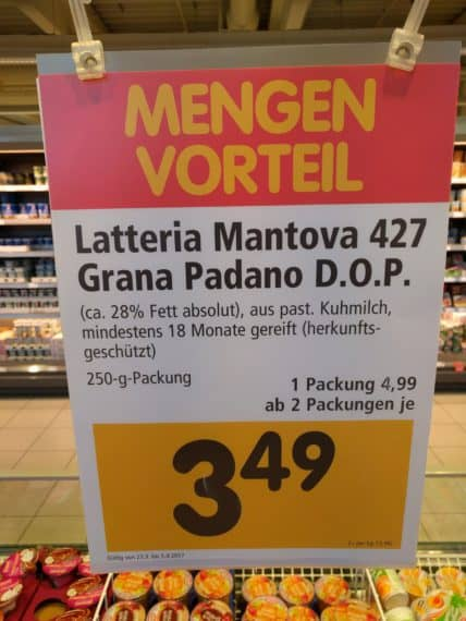 Parmesan im Angebot