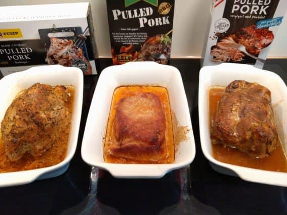 Vergleichstest Pulled Pork von TANN, Tulip & Wiesbauer