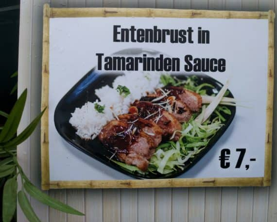 Entenbrust in Tamrindensauce