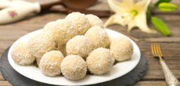 Zum Rezept von Kokos Grieß Bällchen