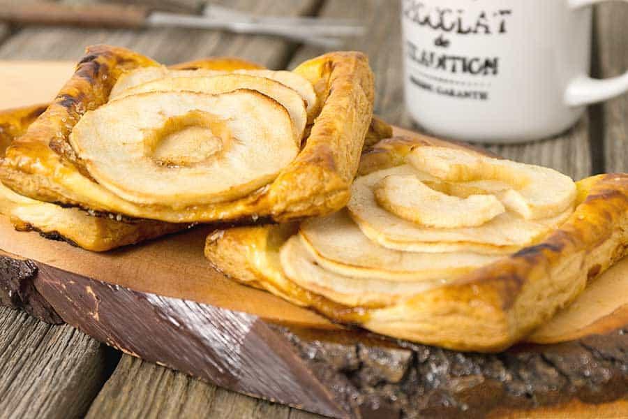 Rezept Apfel Blätterteig Snack