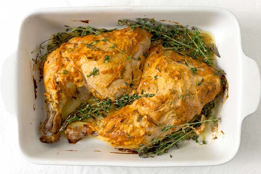 Rezept Hühnerkeulen mit Senfkruste