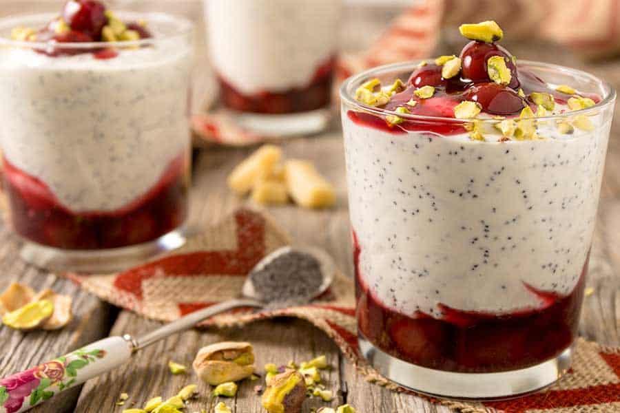 Rezept Marzipan Mohn Joghurt
