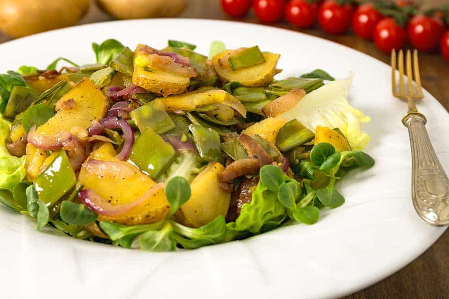 Rezept Kartoffel Speck Salat