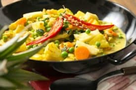 Curry Ananas Kokos Huhn