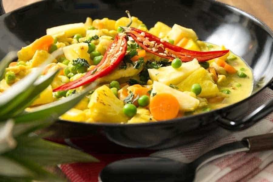 Rezept Curry Ananas Kokos Huhn
