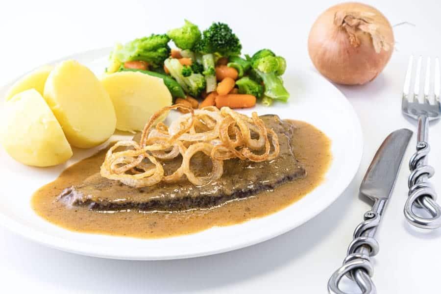 Rezept Rindsschnitzel á la Zwiebelrostbraten