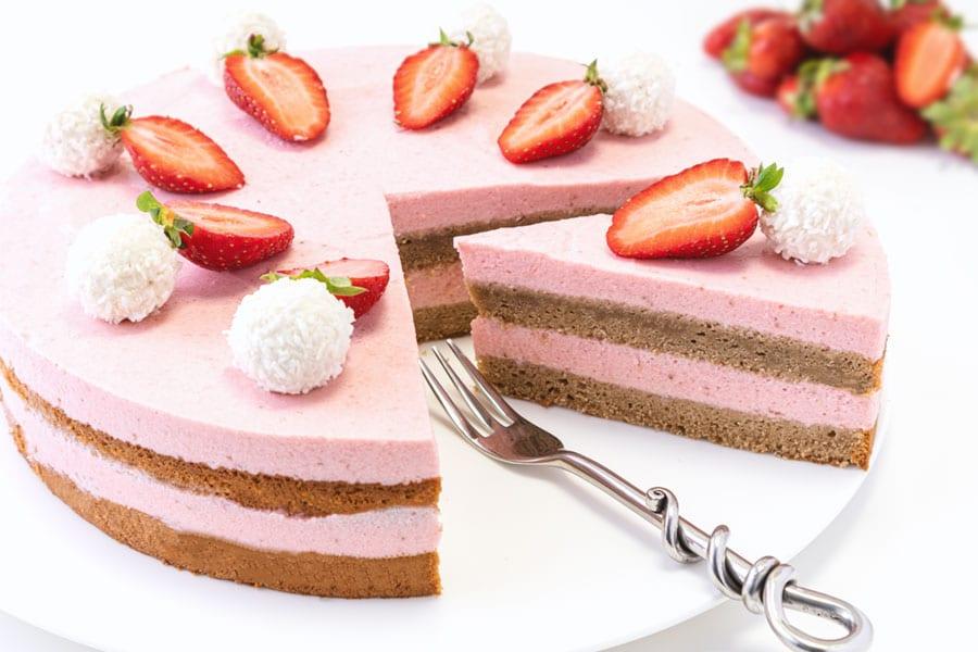 Rezept Erdbeer Nougat Torte