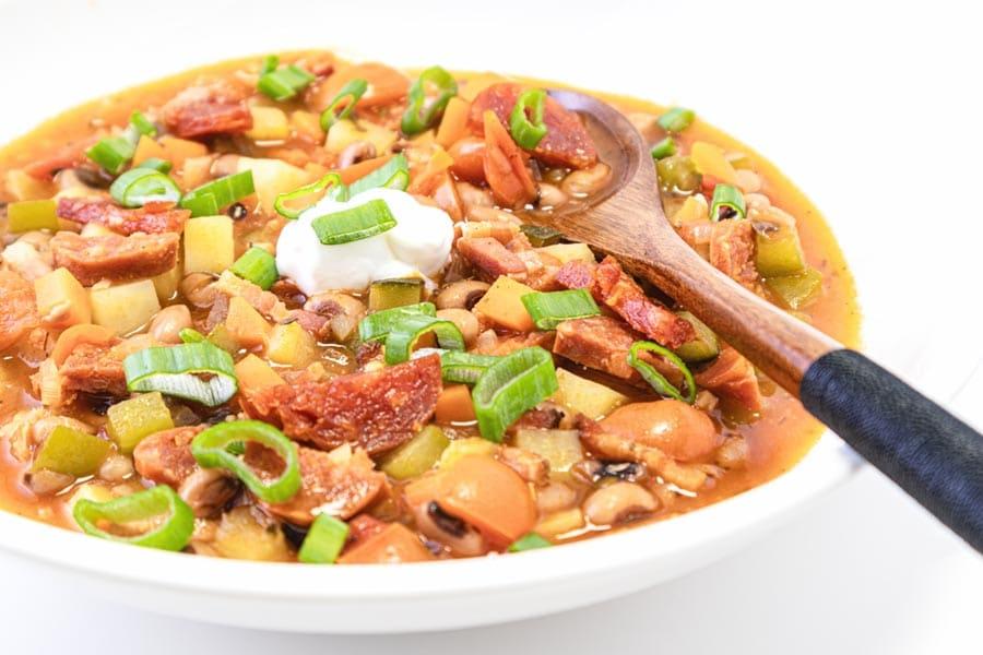 Rezept Spanische Bohnensuppe