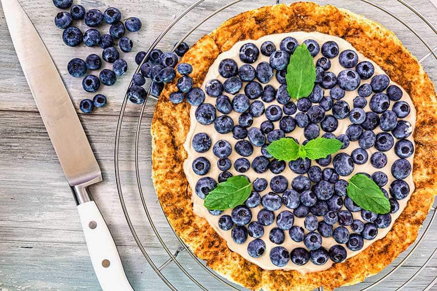 Rezept Heidelbeer Blätterteigpizza