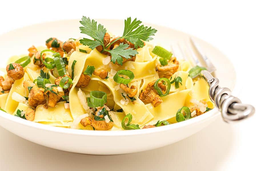 Rezept Pasta mit Eierschwammerl