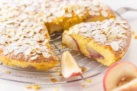 Pfirsich Marzipan Kuchen