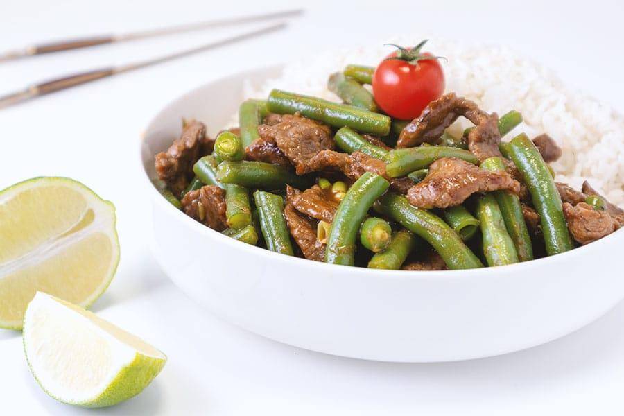 Rezept Rindfleisch mit Fisolen