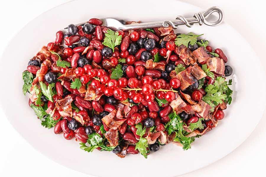 Rezept Rote Bohnensalat mit Beeren