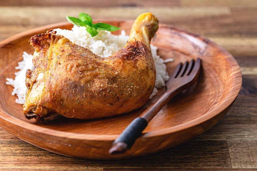 Rezept Knusprige & fettarme Hühnerkeulen