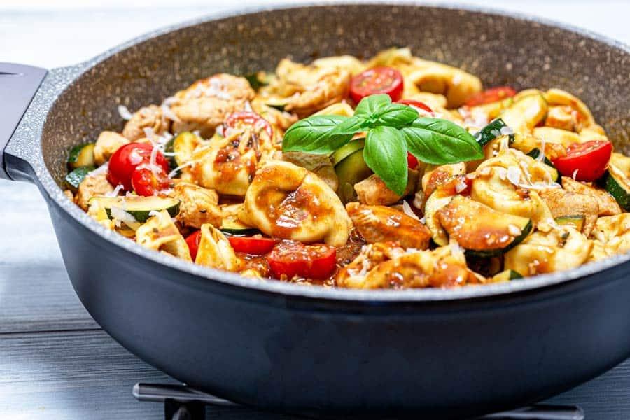 Rezept Tortellinipfanne Toskana mit Huhn