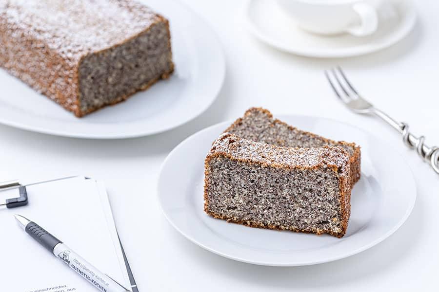 Rezept Becherkuchen Joghurt Mohn