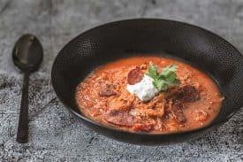 Sauerkrautsuppe mit Chorizo