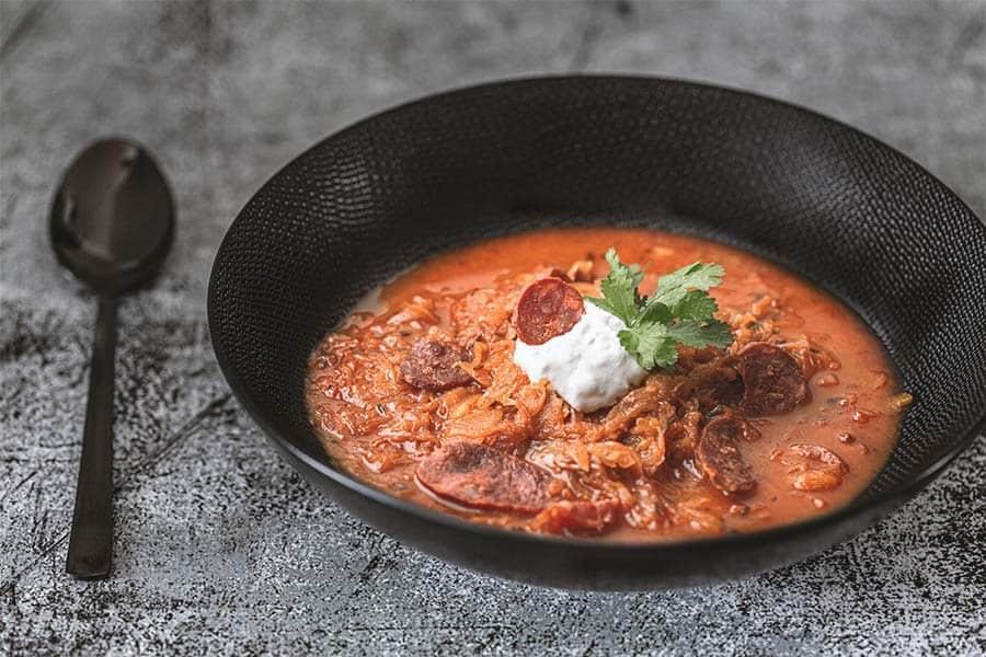 Rezept Sauerkrautsuppe mit Chorizo