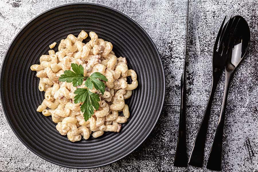 Rezept Gorgonzola Speck Pasta