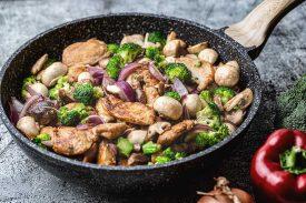 Huhn mit Pilzen & Brokkoli