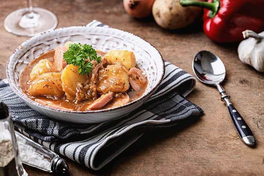 Rezept Kartoffelgulasch mit Wurst