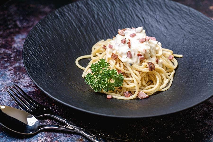 Rezept Nicht Spaghetti Carbonara mit Obers