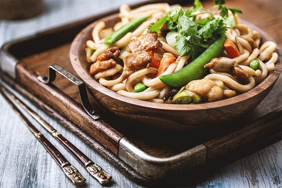 Rezept Udon Hähnchen Wok