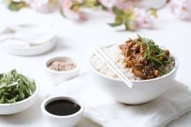 Asiatisches Honig Sesam Huhn