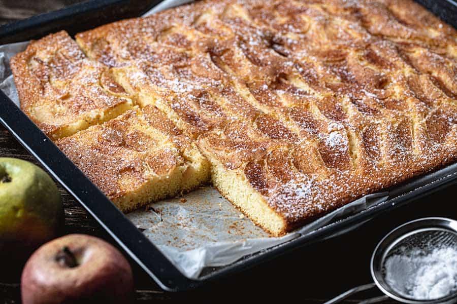 Rezept Apfelkuchen vom Blech den jeder kann